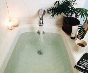 bath, candle, and green image