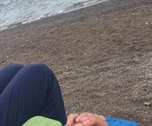 beach, girlfriend, and hands image