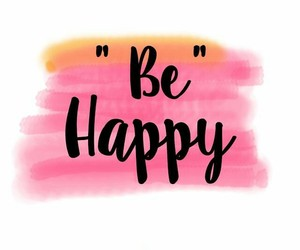 colors, lettering, and be happy image