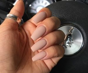 nails, Nude, and cute image