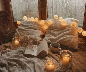 autumn, book, and light image