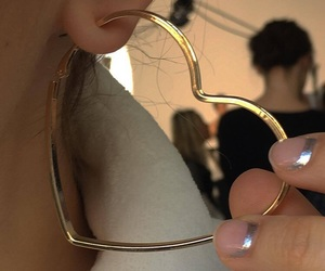 aesthetic, gold, and hoops image
