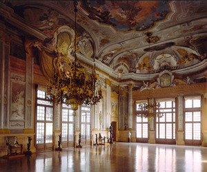 art, ballroom, and interior image