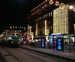 city, lights, and finland image