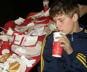 yung lean, KFC, and sad image