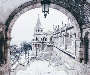 winter, snow, and budapest image