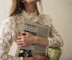 chanel, fashion, and lace image