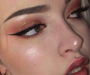 makeup, girl, and aesthetic image