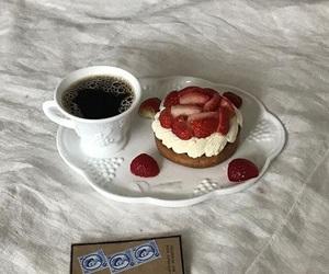 cake, coffe, and food image