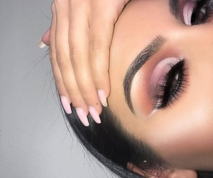 aesthetic, nails, and eyebrows image