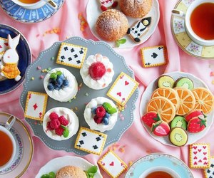 alice in wonderland, food, and photo image