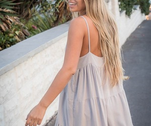blonde, dress, and happy image