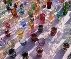 alcohol, colors, and glasses image