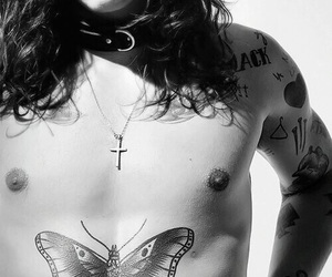 butterfly, tattoo, and daddy image
