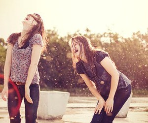 friends, girl, and laugh image