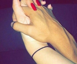 couple, hand, and cute image