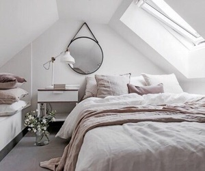 bed, home, and inspiration image