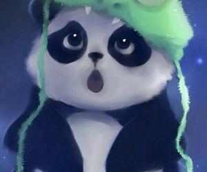 panda, cute, and wallpaper image