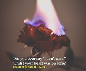 acting, emotions, and fire image
