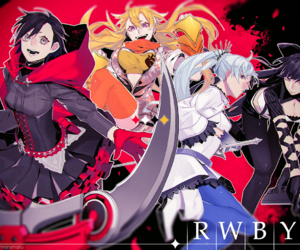 anime, ruby, and weiss schnee image