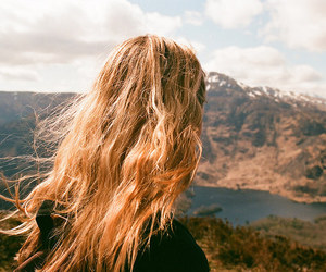 hair, mountains, and grunge image