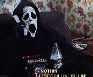 scream, funny, and scary movie image