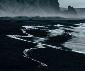 sea, black, and nature image