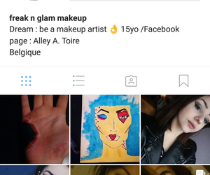 beauty, makeup, and follow me image