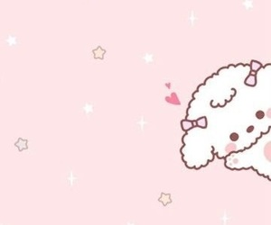 cute puppy, pink, and wallpaper image