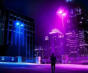 aesthetic, night, and purple image