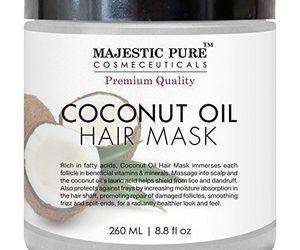 coconut oil, hair treatment, and hair care image