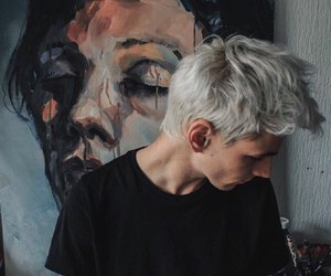art, blonde, and boy image
