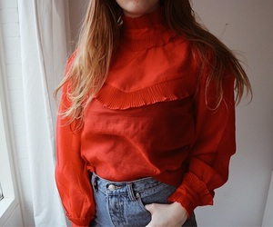 red, ootd, and style image