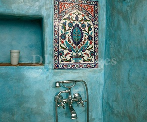 blue, bathroom, and turquoise image