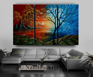 etsy, abstract landscape, and paintingoncanvas image