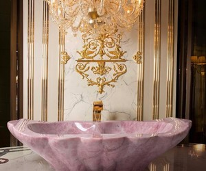 luxury, pink, and interior image