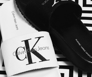 black&white, Calvin Klein, and chaussures image