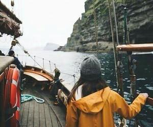exploring, girl, and lake image