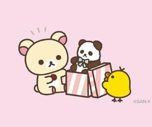 animals, cartoon, and yellow+pink+brown image