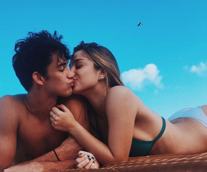 beach, surf, and couples image