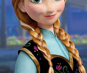 anna, frozen, and walt disney image