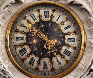 clock, aesthetic, and gold image