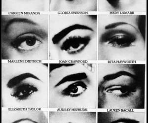 eyes, eyebrows, and audrey hepburn image