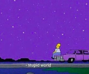 simpsons, world, and purple image