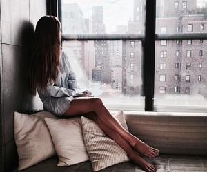 girl, city, and window image