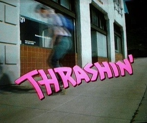 thrashin, thrasher, and pink image