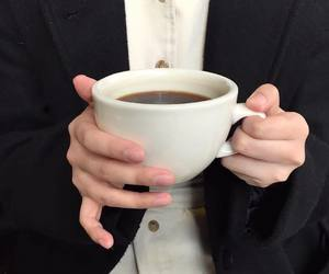 black, coffee, and hands image