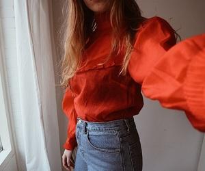 blouse, fashion, and levi's image