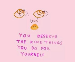 kindness, self-confidence, and pastel pink image