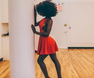 red, Afro, and beautiful image